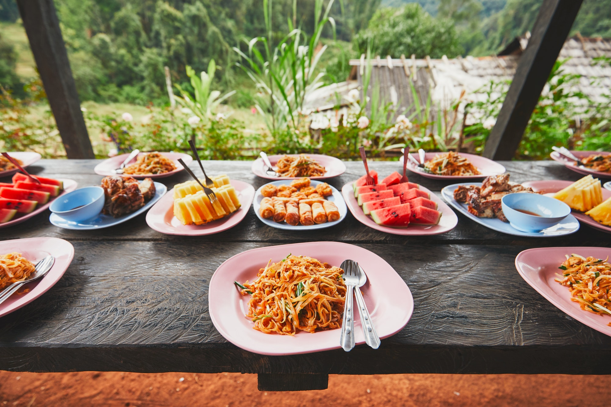Lunch in the middle of the jungle
